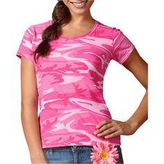 Code V Ladies Fine Cotton Jersey Camouflage T-Shirt in 100 cotton fine jersey.