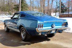 Acapulco Blue GT… 1967 Mustang fastback