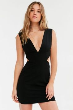 a58c137a190 Silence + Noise Deep V Cutout Bodycon Dress