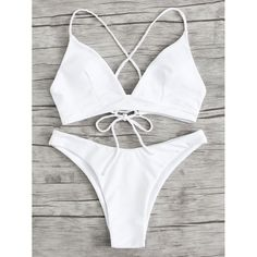 Shop Braided Strap Detail Lace Up Bikini Set online. SheIn offers Braided Strap Detail Lace Up Bikini Set & more to fit your fashionable needs. Mode Du Bikini, Strap Bikini, Lace Bikini, High Leg Bikini, Bikini Outfits, Cute Bathing Suits, Cute Swimsuits, Bikini Fashion, Fashion Swimsuits