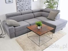 Mebel-Partner Narożnik Systemowy Miami 9 - Opinie i atrakcyjne ceny na Ceneo. Rustic Salon, Salon Chairs, Home Salon, Outdoor Furniture, Outdoor Decor, Couch, Architecture, Miami, Design