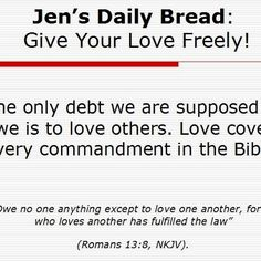 Give your love FREELY!!