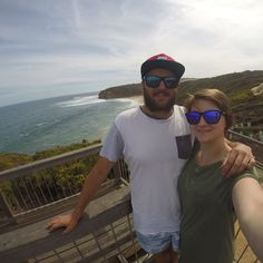 Bells Beach today at the home of Rip Curl with the lovely @girdy16 #misses #partner #girlfriend #beach #ocean #surf #bellsbeach #ripcurl #torquay #victoria #australia by boppingboppstar http://ift.tt/1KnoFsa