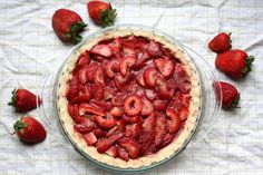 Strawberry and Pomegranate Pie (AIP, Paleo)