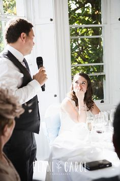 Wedding Speeches images and moments at Pembroke Lodge Wedding Photographer | Alternative, Creative and Documentary Pembroke Lodge wedding photographer |  Benni Carol Photography