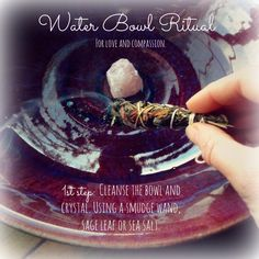 """The intention of this ritual is to promote positive vibrations of self love  and compassion. You will use the """"charged"""" water from this ritual to bathe  in!  To begin find a beautiful medium sized bowl. This bowl will be the  container in which you fill with positive intentions, prayer, mantra, etc.  A simple smudging with sage, palo santo or a sea salt bath will work to  remove any negative or residual energies from the bowl. I like to add a  rose quartz crystal to the bowl during this…"""
