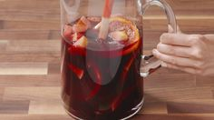 With a fall-inspired mix of apples, oranges, pears, cinnamon and pomegranate seeds, this brandy and red wine sangria from @Delish is a festive drink for the season.  http://www.sweetswaps.com/post/150315941435/sangria