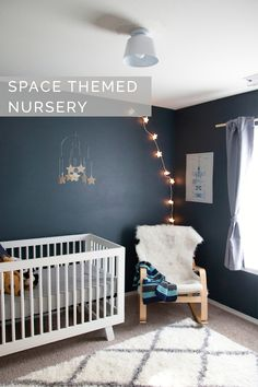 Space Themed Nursery with sources | Petite Modern Life | Shop. Rent. Consign. MotherhoodCloset.com Maternity Consignment