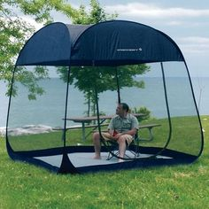 Screen-Tent-Floor-Pop-Up-Room-Camping-Room-Insect-Proof-Beach-Shelter-Picnic-Sun