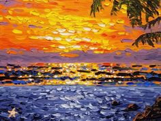 Sailboat in sunset, knife oil painting, by Ryan Kimba - YouTube