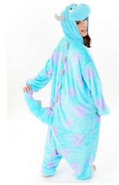 Adult Animal Onesuit Monster'S Sully Cosplay Costume Pajamas (Size M) from Amazon.