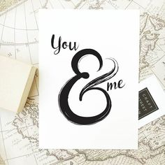 - Design - Details Hang this beautiful 'You & Me' inspirational print on your walls ◦ Materials: Archival Paper, Ink, Love ◦ Made to order ◦ Frame is not included in the purchase ◦ Handmade in USA ◦ A Save My Marriage, Marriage Advice, Quote Posters, Quote Prints, Love You Hubby, Marriage Records, Wanderlust Quotes, Vacation Quotes, Gold Wall Art