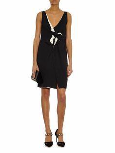 Bow-embellished silk-crepe dress | Lanvin | MATCHESFASHION.COM