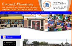 Houses For Sale Near Coronado Elementary School, Amarillo TX http:///thepamelamadoregroup.com 806-340-7630  Coronado Elementary School 3210 Wimberly Am