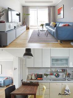 다양한 색 배합으로 완성한 25평형 신혼집-Maison