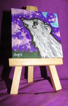Mini Canvas - Silver Ferret by FerretJAcK on DeviantArt Art Cards, Mini Canvas, Mini Paintings, Ferret, Bookends, Deviantart, Artist, Silver, Decor