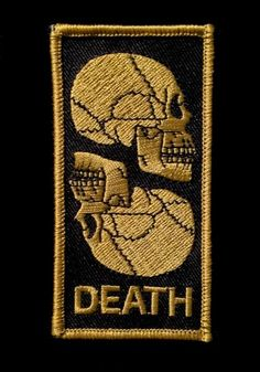 Double Skulls Patch Cool Patches, Pin And Patches, Skull Patches, Cool Stuff, Badges, Morale Patch, Emblem, Patch Design, Embroidery Patches
