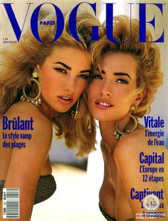 Paris VOGUE : Elaine Irwin Mellencamp & Tatiana Patitz