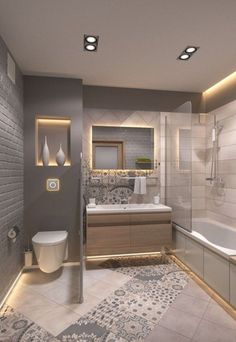 bathroom ideas on a budget / bathroom ideas _ bathroom ideas small _ bathroom ideas on a budget _ bathroom ideas modern _ bathroom ideas master _ bathroom ideas apartment _ bathroom ideas diy _ bathroom ideas small on a budget Bathroom Design Luxury, Modern Bathroom Design, Modern Design, Small Luxury Bathrooms, Washroom Design, White Bathrooms, Toilet Design, Dream Bathrooms, Design Elements