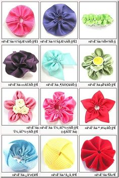 Fabric Bows and More: Lots of Ribbon Flowers Tutorials by Gaberi Ribbon