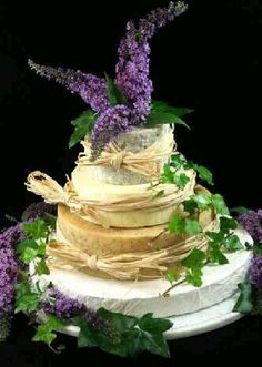 Cheese Wedding Cake or Tower to feed (Mixed Cake W) Bottom cheese diameter. This cake is kg so will feed guests. Cheese Tower, Wheel Cake, Beautiful Wedding Cakes, Party Cakes, Let Them Eat Cake, How To Make Cake, Amazing Cakes, Vanilla Cake, Food Porn