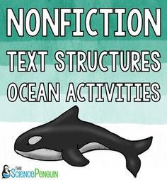 Teach nonfiction text structures using these story cards about the ocean! Ocean Activities, Reading Activities, Teaching Reading, Reading School, Learning, Text Structures, Teaching Themes, 3rd Grade Reading, Text Features