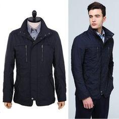 Gmarket - Hazzys Men`s casual jacket / high neck / zip up / fron...