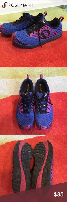 Trail shoes by Project pearl iZumi Purple, pink, black trail running shoes. Good condition lots of life left to them Pearl Izumi Shoes Athletic Shoes
