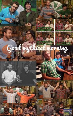 Good mythical morning :)