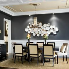 Kendall Charcoal Benjamin Moore Design Ideas, Pictures, Remodel and Decor (no dishes on the wall, but everything else is cool)