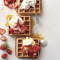 This recipe uses only a handful of baking ingredients and is sure to become your back-pocket breakfast (and not just on weekends). The batter whisks up so light, it's hard to believe the waffles (or pancakes) are fully whole wheat.