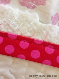 Genius!  Perfect (easy) way to make the end pieces match up perfectly!!!  It works! crazy mom quilts: a binding tutorial
