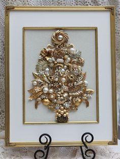 Vintage Jewelry Christmas Tree Framed Pearls of Wisdom   eBay