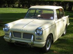 Triumph Herald 1200 - my sister's car which I had the use of when she was stationed abroad, think it was on an F plate, same colour though.