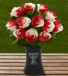 The FTD® Texas Tech University Red Raiders™ Rose Bouquet - Wreck 'Em!!