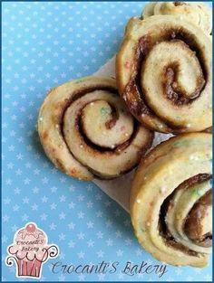 Galletas en espiral funfetti y nutella
