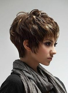 This category present you various trendy short hairstyles. You can find different trendy short haircuts and short trendy hairstyles. Very Short Hair, Short Hair With Layers, Cute Hairstyles For Short Hair, Short Hair Cuts For Women, Pixie Hairstyles, Trendy Hairstyles, Curly Hair Styles, Short Haircuts, Short Cuts
