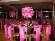 Rent Victoria's Secret Theme Centerpieces Rentals Pretty in PInk Theme RENT today (631) 421-2286 email info@sweet16candelabtas.com www.sweet16candelabras.com  YouTube channel www. youtube/sweet16candleabras