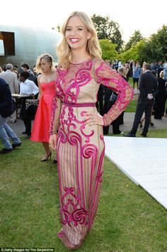 She's a lady of London! Marissa Hermer looked stunning wearing a gorgeous Temperley dress...