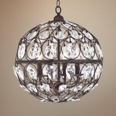 "Wenden 4-Light 16 1/2"" Wide Bronze Pendant light"