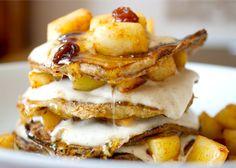 apple-cinnamon french toast pancakes