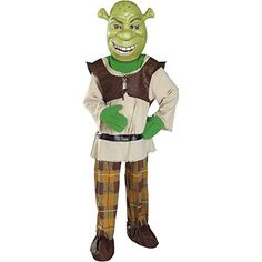 Baoer Deluxe Shrek Costume - Medium @ niftywarehouse.com