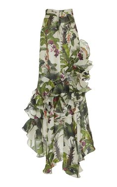 Oasis Town Silk Organza Skirt by Johanna Ortiz Kpop Fashion Outfits, Latest Outfits, Dress Drawing, Skirt Patterns Sewing, Gala Dresses, Gowns Of Elegance, Fashion Design Sketches, Fashion Pictures, Designer Dresses
