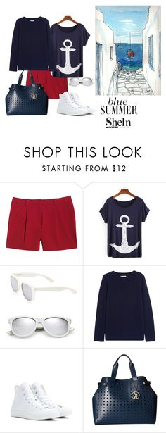 """""""Senza titolo #1002"""" by granatina ❤ liked on Polyvore featuring Canvas by Lands' End, Yves Saint Laurent, Chinti and Parker, Converse and Armani Jeans"""