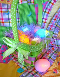 Add a twist to Easter this year with this Glowing Egg Easter Basket. Have older kids? Send them on an Easter egg hunt... in the dark!...