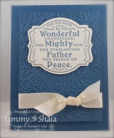 Prince of Peace single stamp, Midnight Muse cardstock