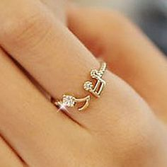 When music is your muse, wear this elegant musical note alloy adjustable gold ring at  $0.99.