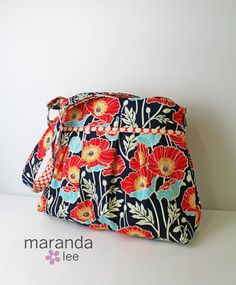 Stella Large Diaper Bag READY to SHIP  Poppies by marandalee, $89.00