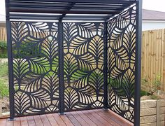 Decorative Panels Our high quality Habitat Decorative Panels are manufactured from aluminium that will not rust, warp or rot, guaranteeing you years of maintenance free enjoyment. Habitat Decorative Panels are perfect for both internal or externa Privacy Panels, Outdoor Rooms, Decorative Screens, Outdoor Screens, Outdoor Screen Panels, Decorative Panels, Outdoor Walls, Backyard Landscaping Designs, Paneling