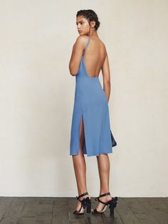 Lean mean sophisticated machine, coming your way. The Fifi Dress is like the prize fighter of dresses. Tailored to make your body look, well, wow. https://www.thereformation.com/products/fifi-dress-dutch-blue?utm_source=pinterest&utm_medium=organic&utm_campaign=PinterestOwnedPins